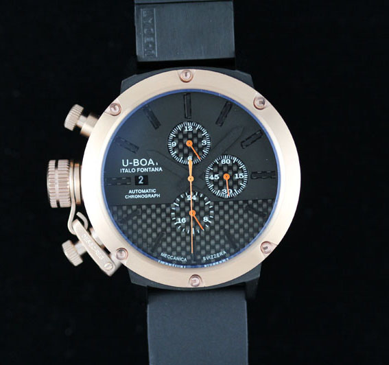 U-Boat U 1001 All Black II Chronograph Rose Gold Watch