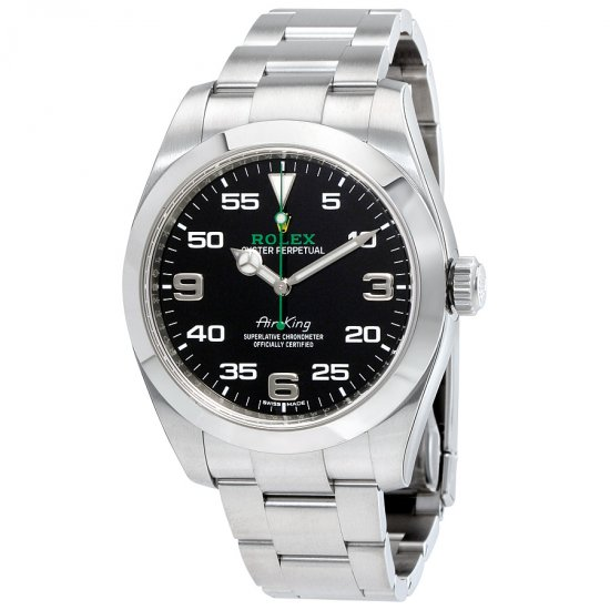 Rolex Air King Black Dial 116900 Stainless Steel Watch