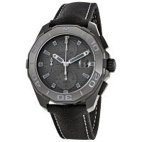 Tag Heuer Aquaracer Automatic Black Dial Black Fabric Men's Watch CAY218B.FC6370