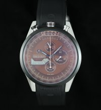 TAG Heuer Mikrogirder 20000 Chronograph Black Bazel red Dial