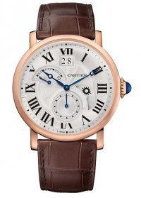 Cartier Rotonde de Cartier Second Time Zone Day/Night Pink Gold W1556240 Replica