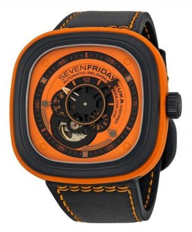 Sevenfriday P1-3 Industrial Essence Orange Dial Automatic Watch