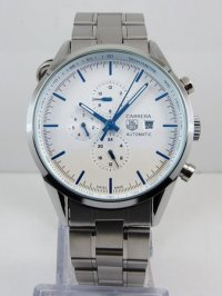 Tag Heuer Carrera Automatic Chrongraph White Steel bracelet