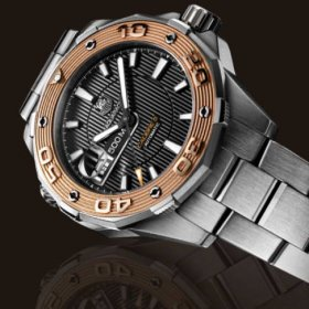 Tag Heuer Aquaracer 500M Calibre 5(gold)