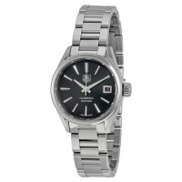 Tag Heuer Carrera Automatic Black Dial Stainless Steel Ladies Watch WAR2410.BA0776