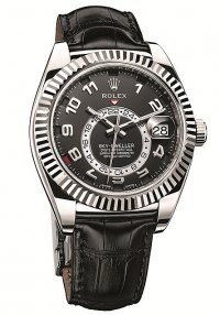 Rolex Sky-Dweller White Gold Black Dial 326139 Replica