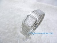 Cartier Men's White Dial & Stainless Steel Bracelet Watch W20098