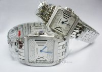 CARTIER SANTOS DE CARTIER 'GALB?E' WATCH, EXTRA LARGE MODEL W200