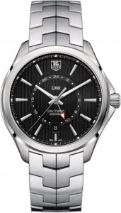 Tag Heuer Link Automatic Black Dial Stainless Steel Men's Watch WAT201A.BA0951